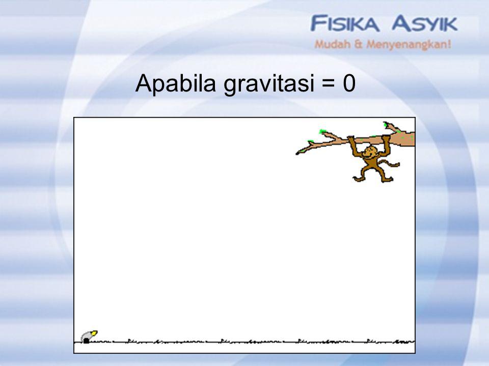 Apabila gravitasi = 0