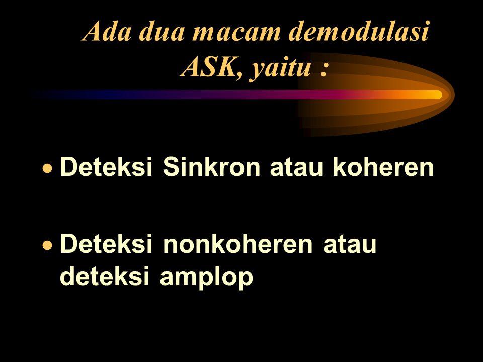 Ada dua macam demodulasi ASK, yaitu :