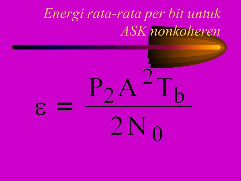 Energi rata-rata per bit untuk ASK nonkoheren