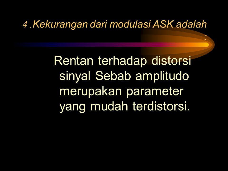 4 .Kekurangan dari modulasi ASK adalah :