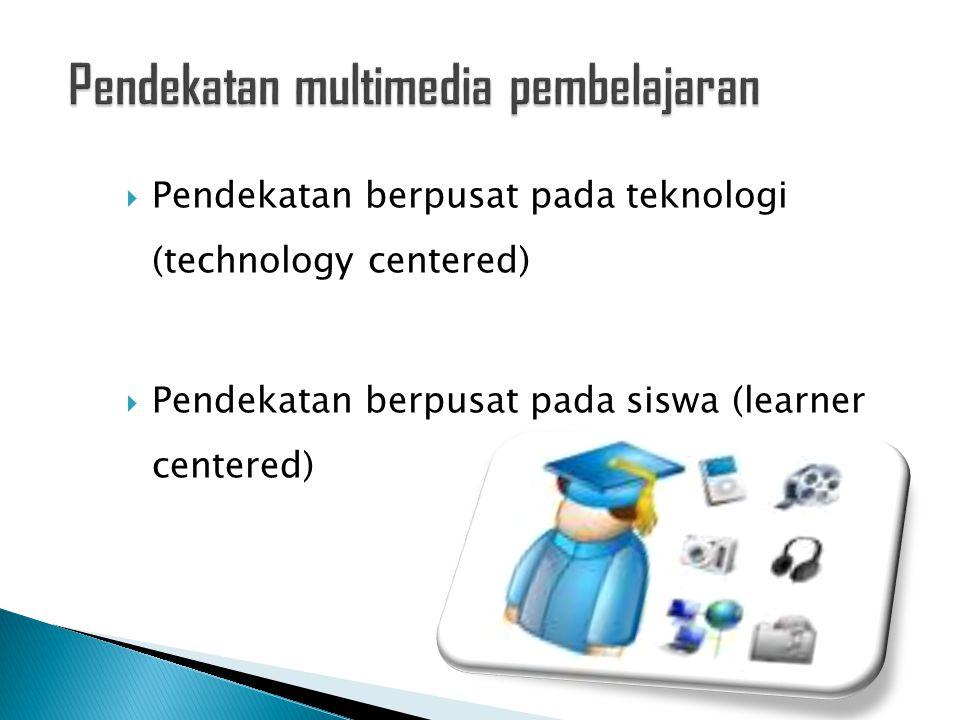 Pendekatan multimedia pembelajaran