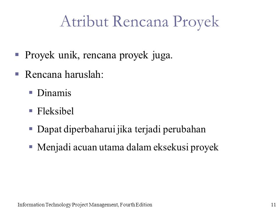 Atribut Rencana Proyek