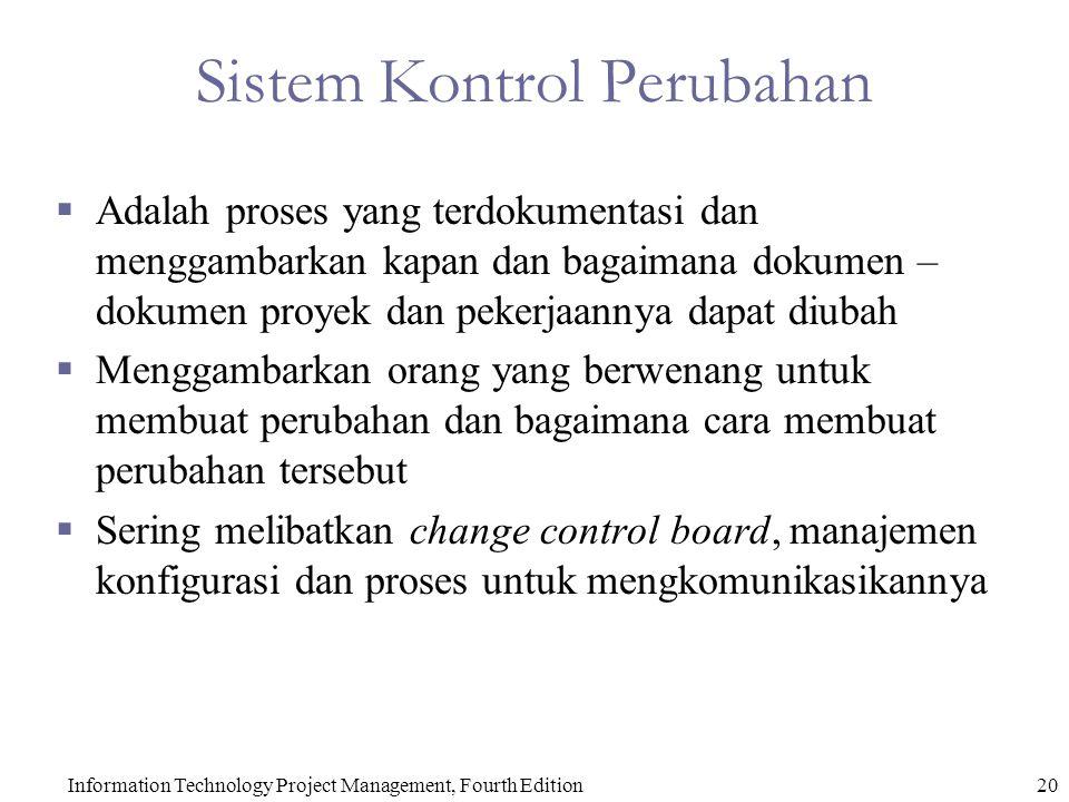 Sistem Kontrol Perubahan