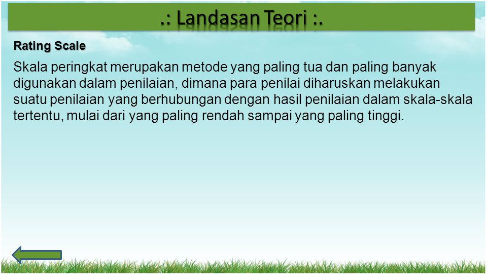 .: Landasan Teori :. Rating Scale.