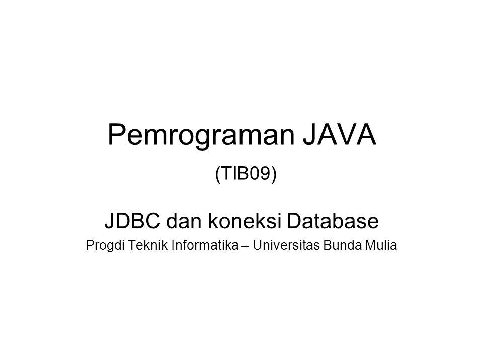 Pemrograman JAVA (TIB09)