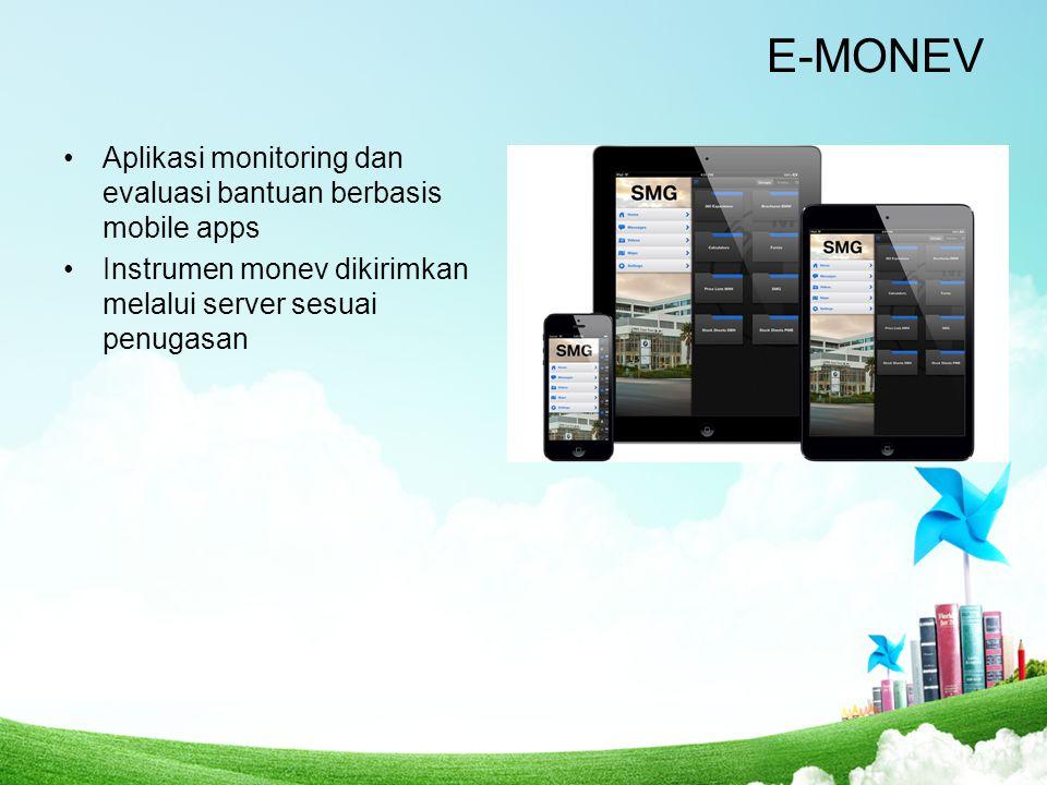E-MONEV Aplikasi monitoring dan evaluasi bantuan berbasis mobile apps