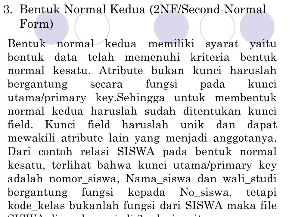 Bentuk Normal Kedua (2NF/Second Normal Form)