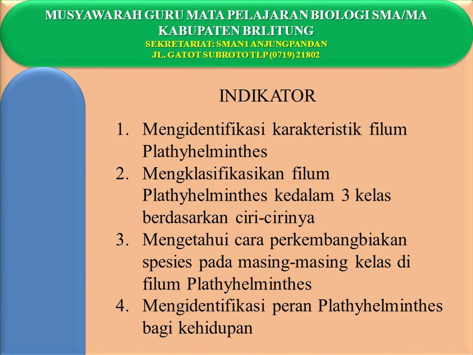 Mengidentifikasi karakteristik filum Plathyhelminthes