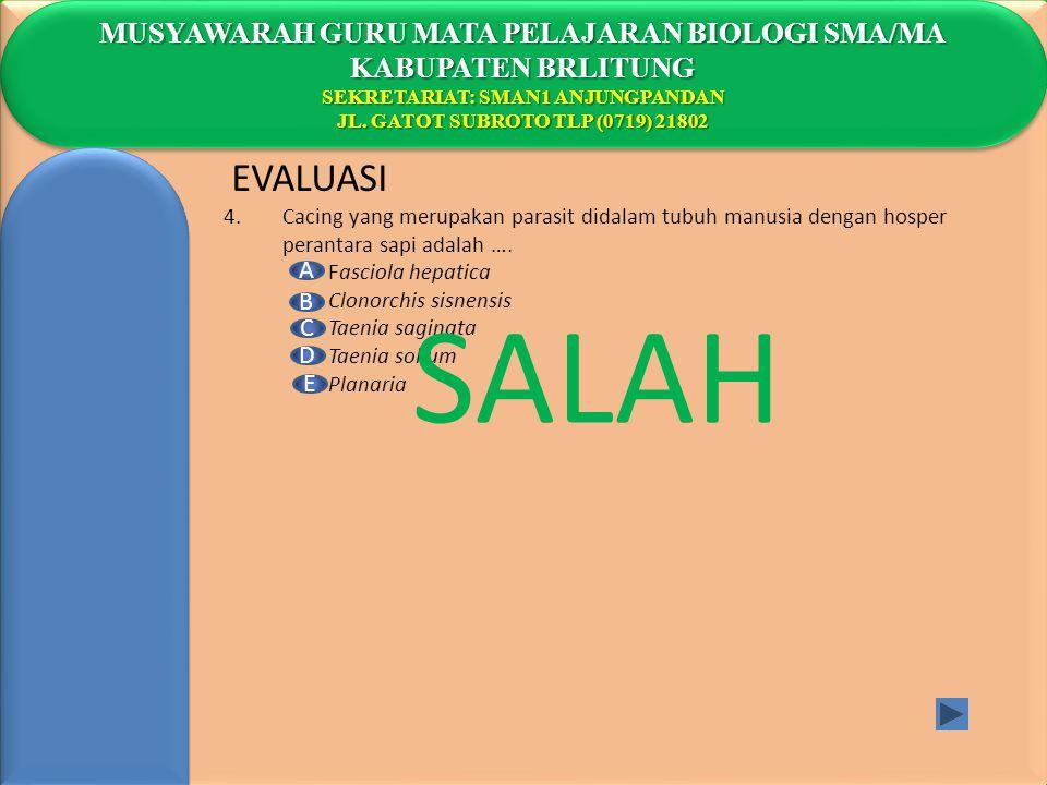 SALAH EVALUASI MUSYAWARAH GURU MATA PELAJARAN BIOLOGI SMA/MA