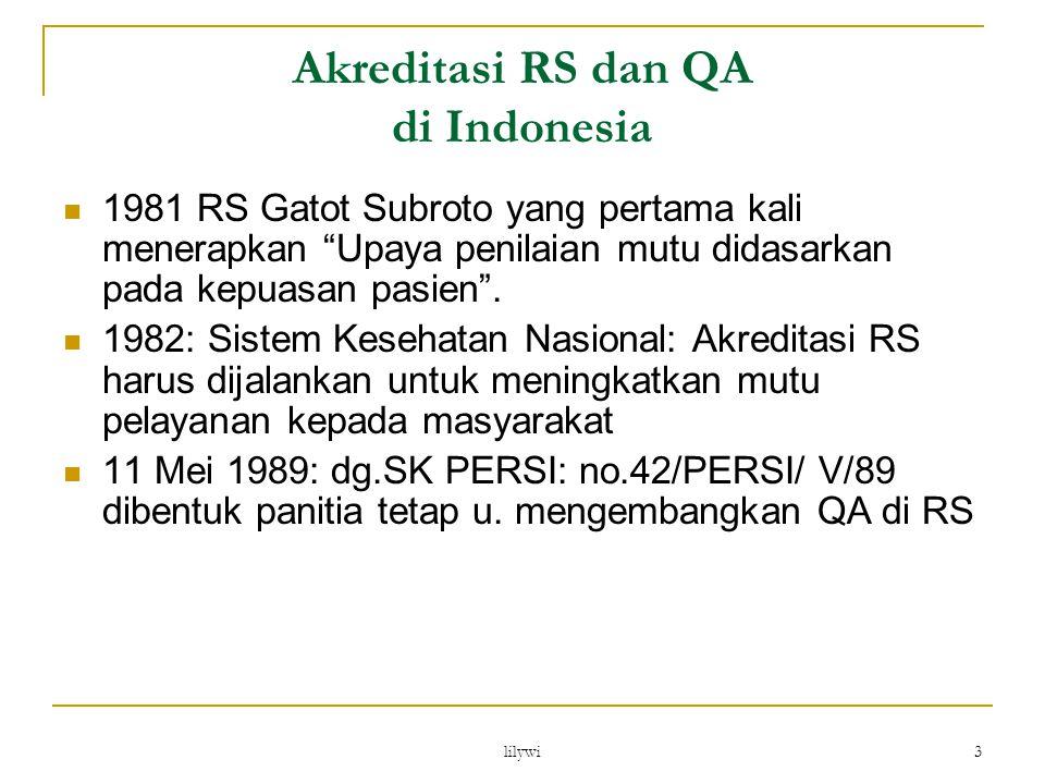 Akreditasi RS dan QA di Indonesia