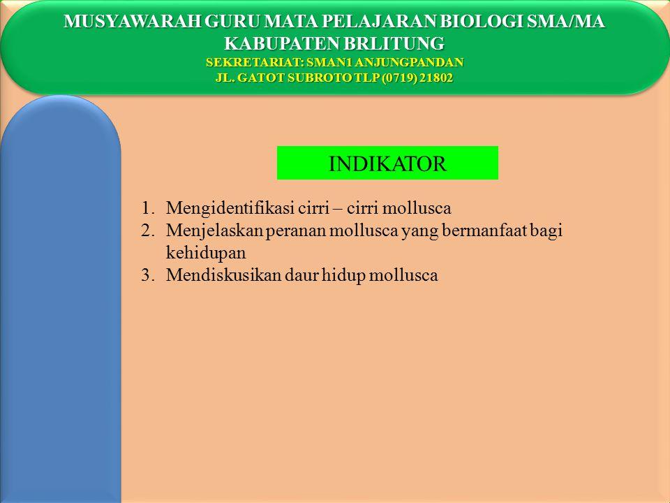 INDIKATOR MUSYAWARAH GURU MATA PELAJARAN BIOLOGI SMA/MA