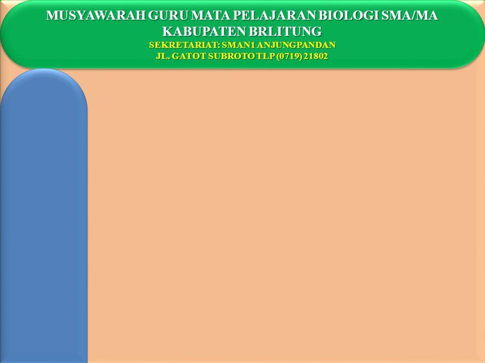 MUSYAWARAH GURU MATA PELAJARAN BIOLOGI SMA/MA KABUPATEN BRLITUNG