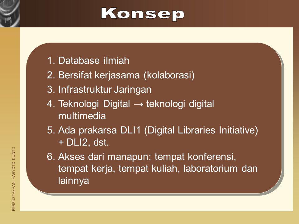 Konsep Database ilmiah Bersifat kerjasama (kolaborasi)