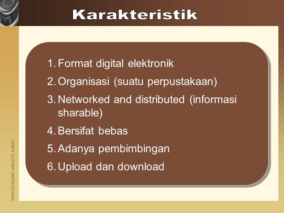 Karakteristik Format digital elektronik