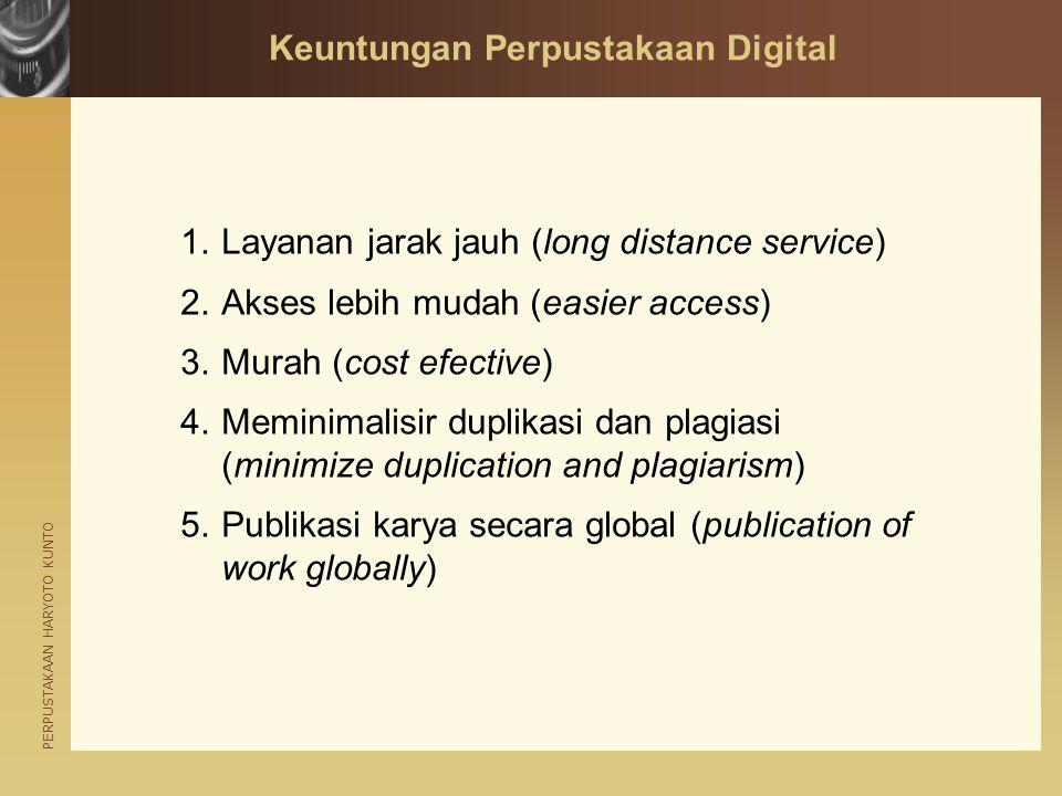 Keuntungan Perpustakaan Digital