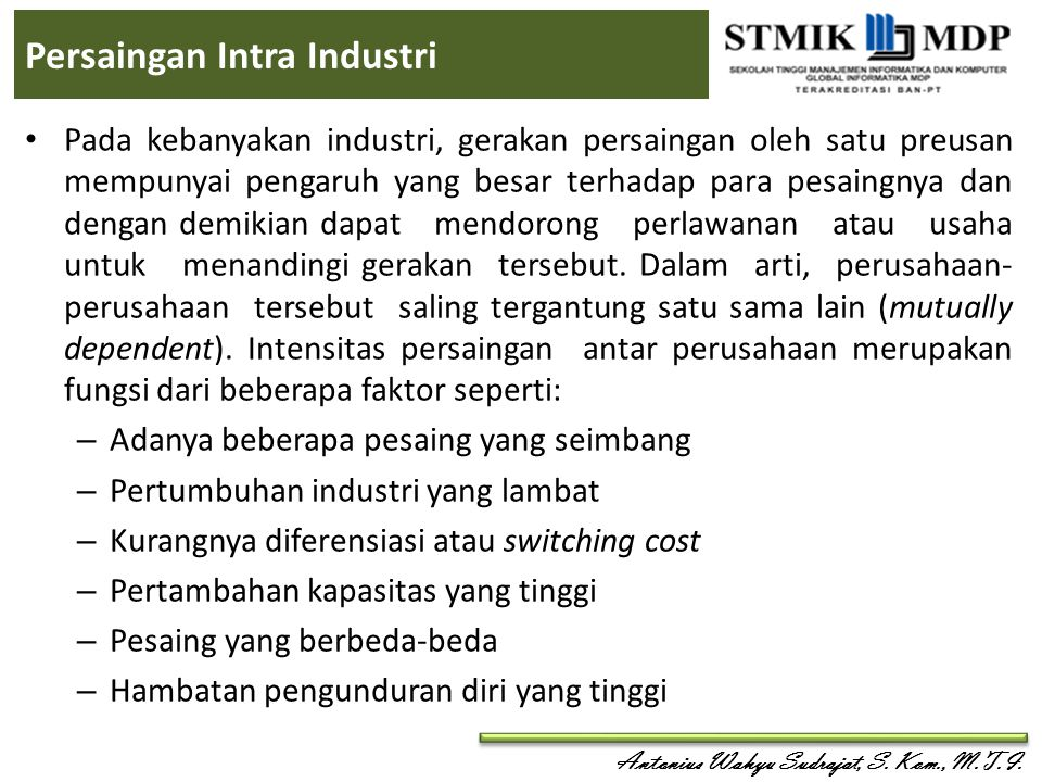 Persaingan Intra Industri