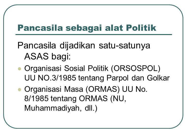 Pancasila sebagai alat Politik