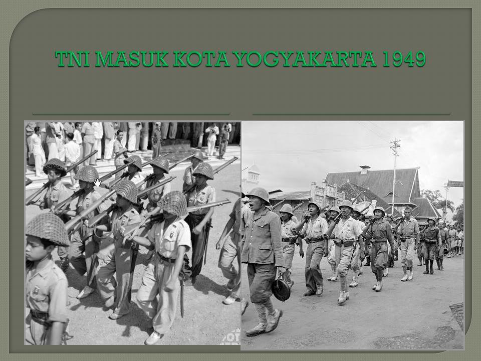 TNI MASUK KOTA YOGYAKARTA 1949