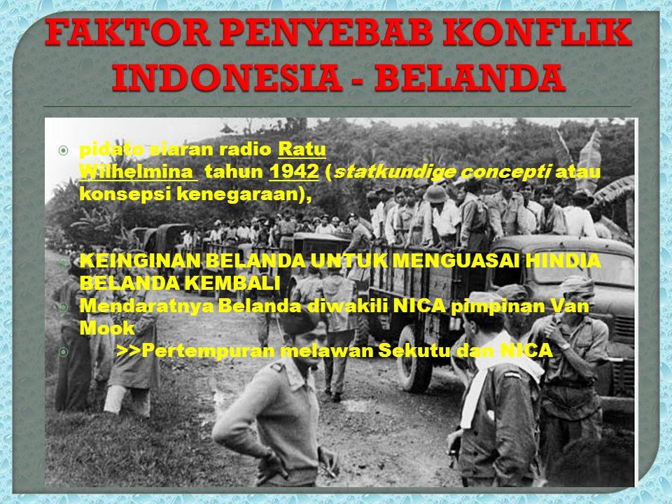 FAKTOR PENYEBAB KONFLIK INDONESIA - BELANDA