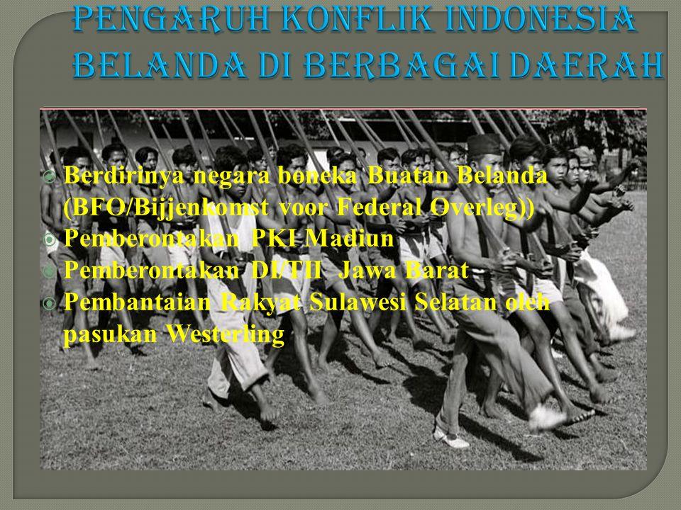 Pengaruh konflik Indonesia Belanda di berbagai daerah