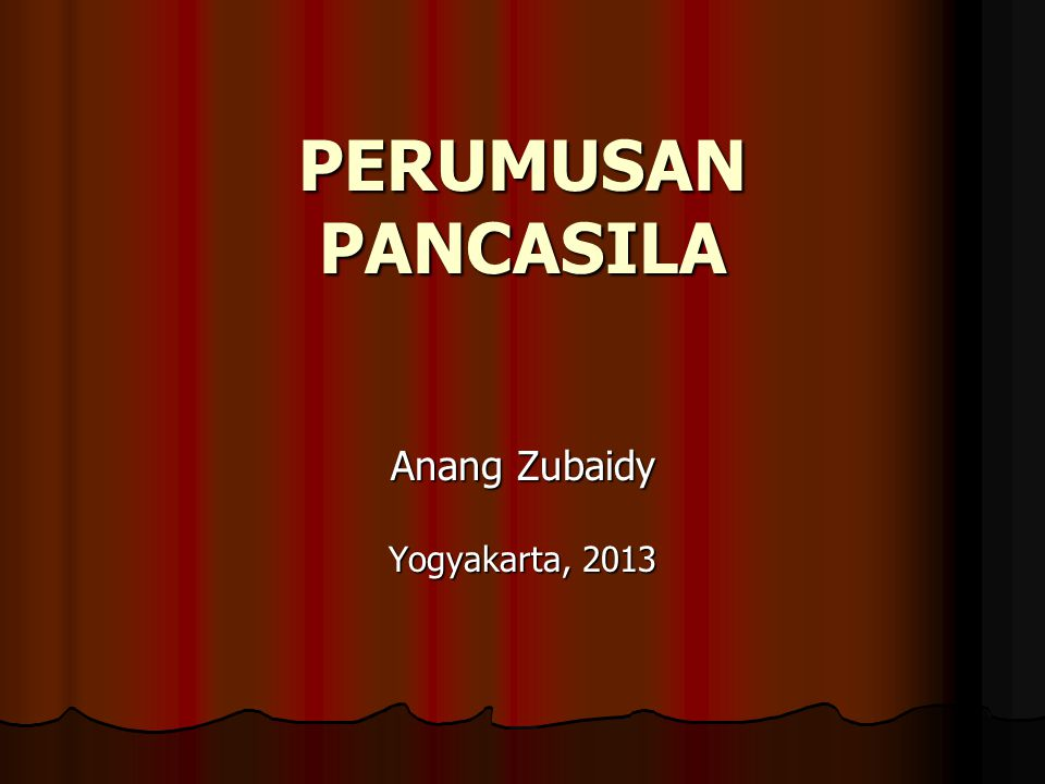 Anang Zubaidy Yogyakarta, 2013