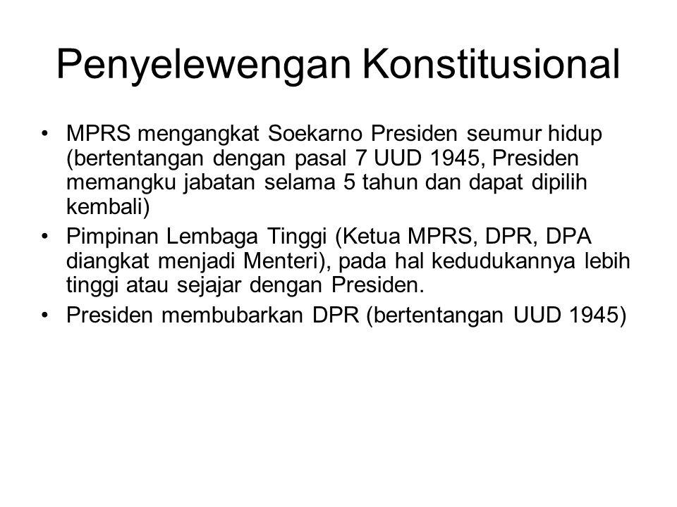 Penyelewengan Konstitusional