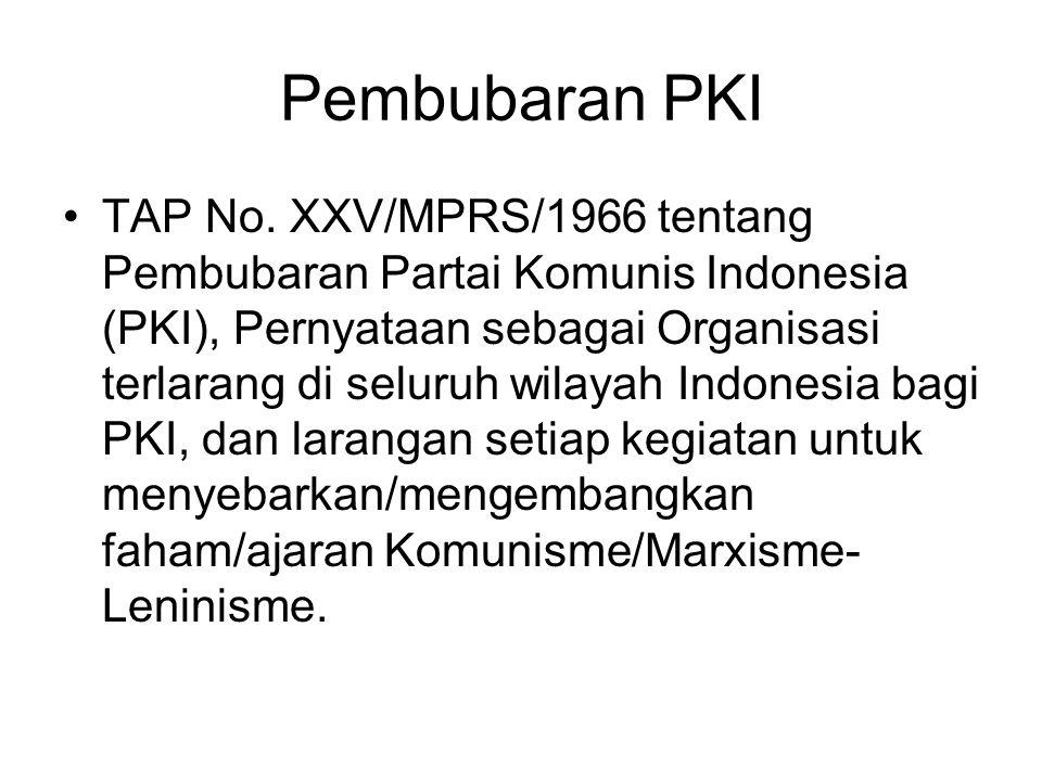 Pembubaran PKI