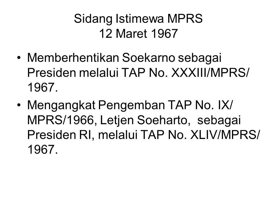 Sidang Istimewa MPRS 12 Maret 1967