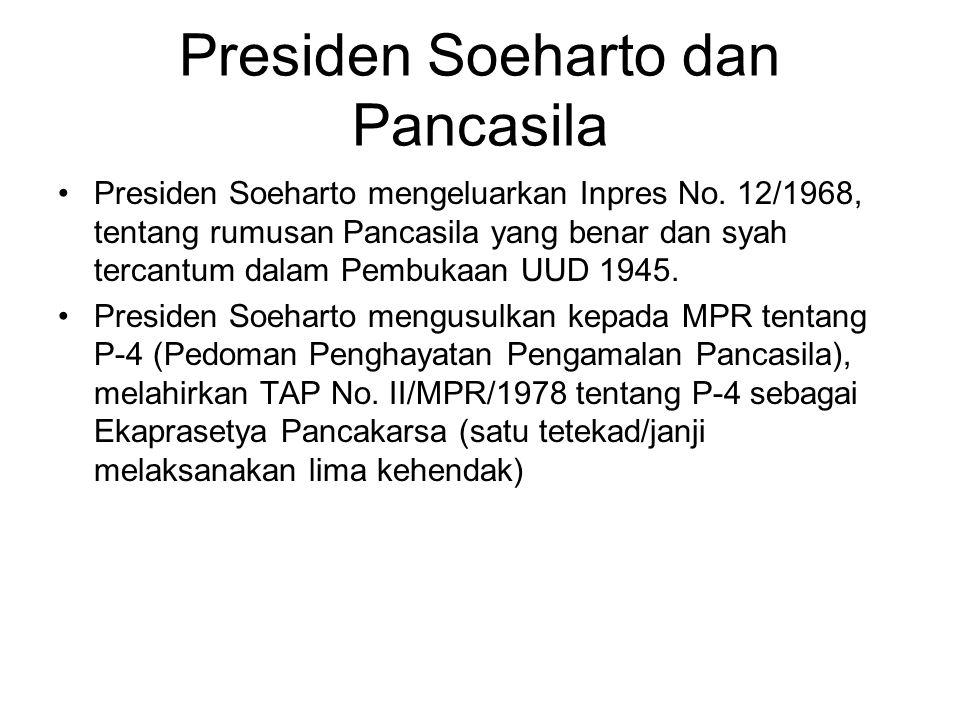Presiden Soeharto dan Pancasila
