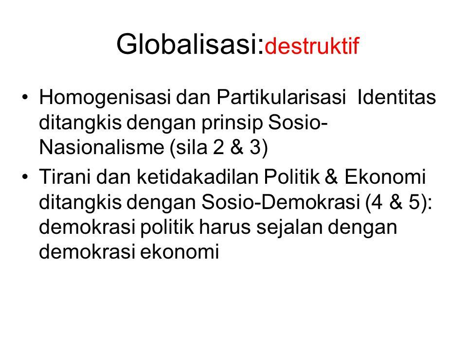 Globalisasi:destruktif