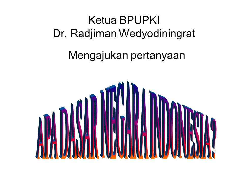 Ketua BPUPKI Dr. Radjiman Wedyodiningrat