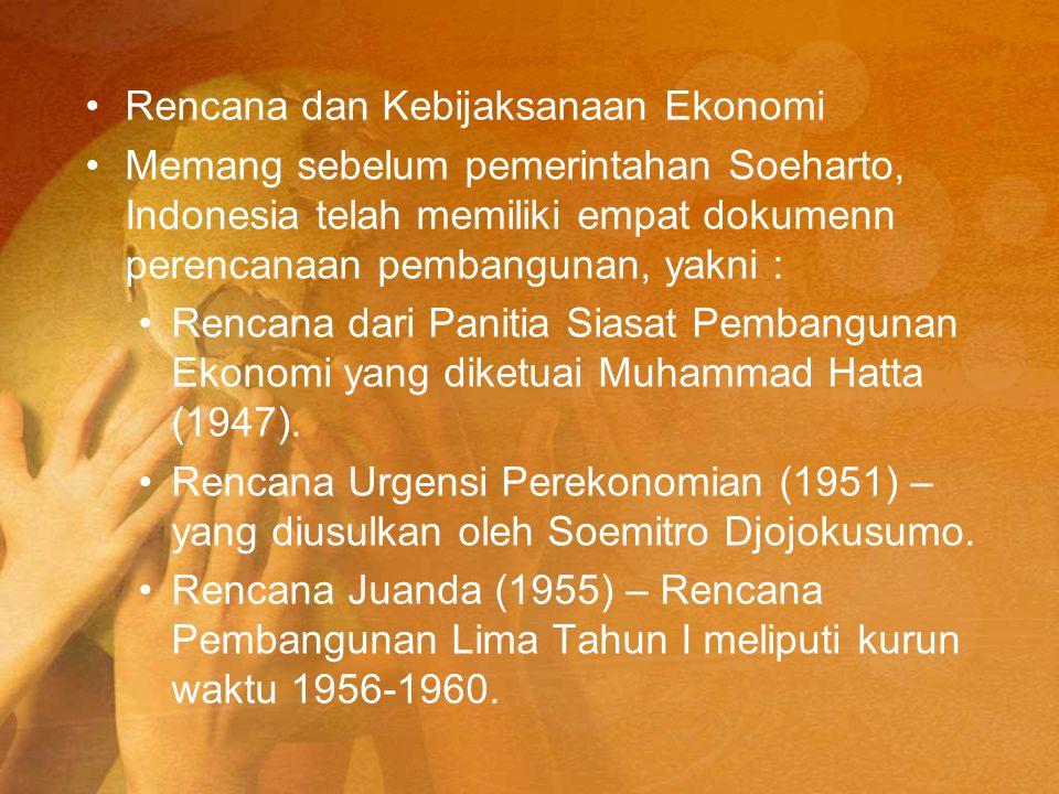 Rencana dan Kebijaksanaan Ekonomi