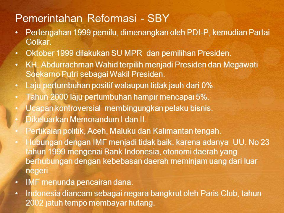 Pemerintahan Reformasi - SBY