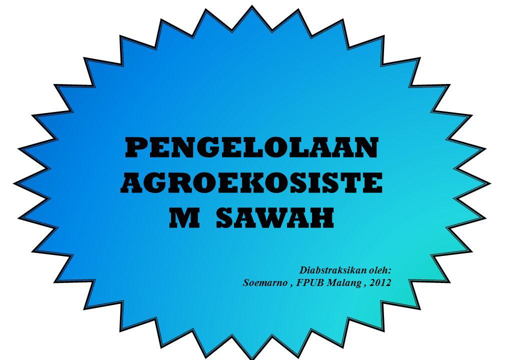 PENGELOLAAN AGROEKOSISTEM SAWAH