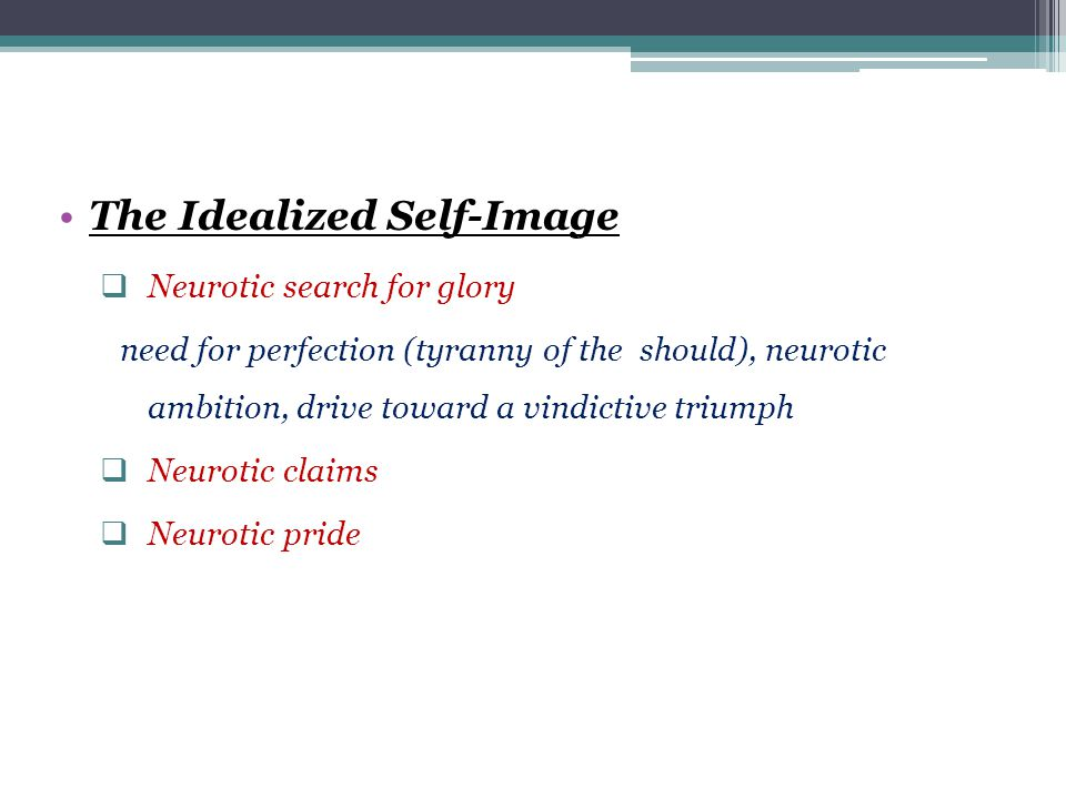 The Idealized Self-Image