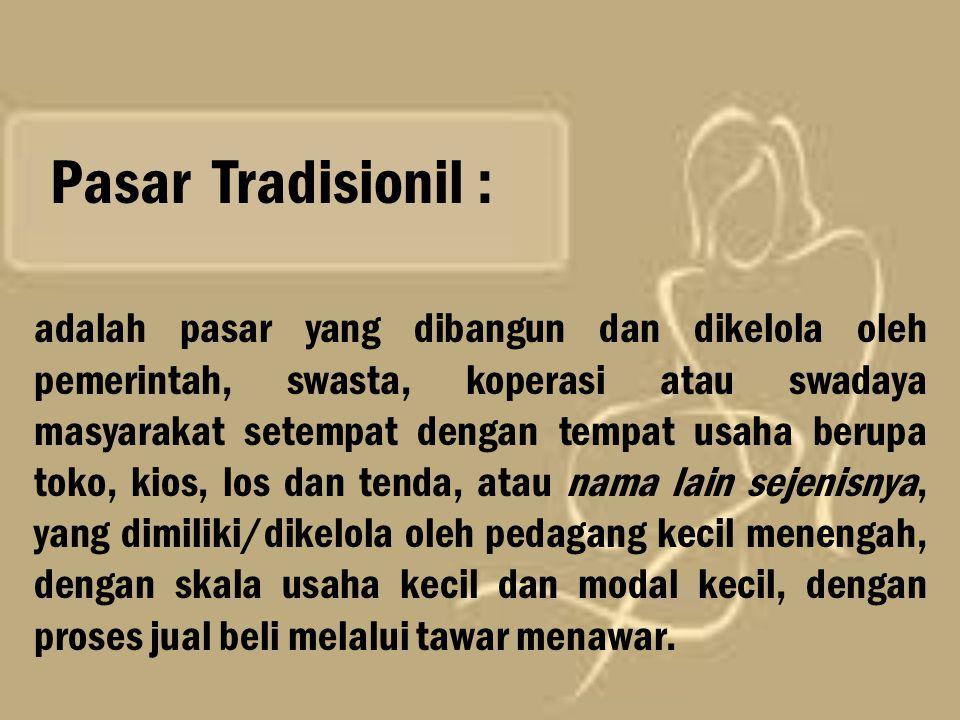 Pasar Tradisionil :
