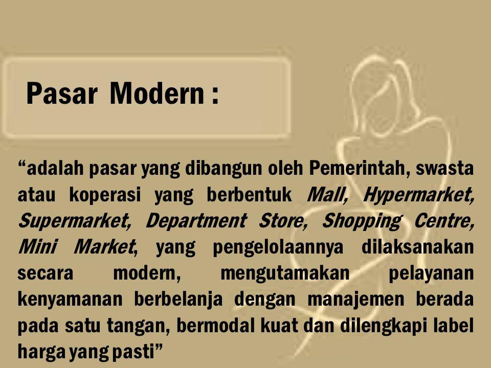 Pasar Modern :