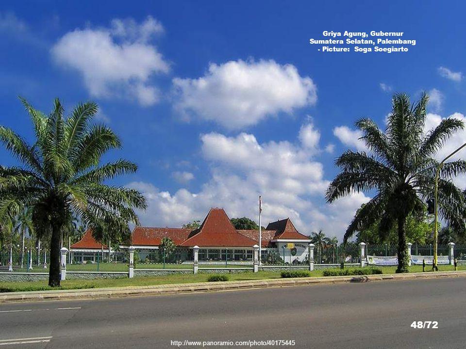 Griya Agung, Gubernur Sumatera Selatan, Palembang