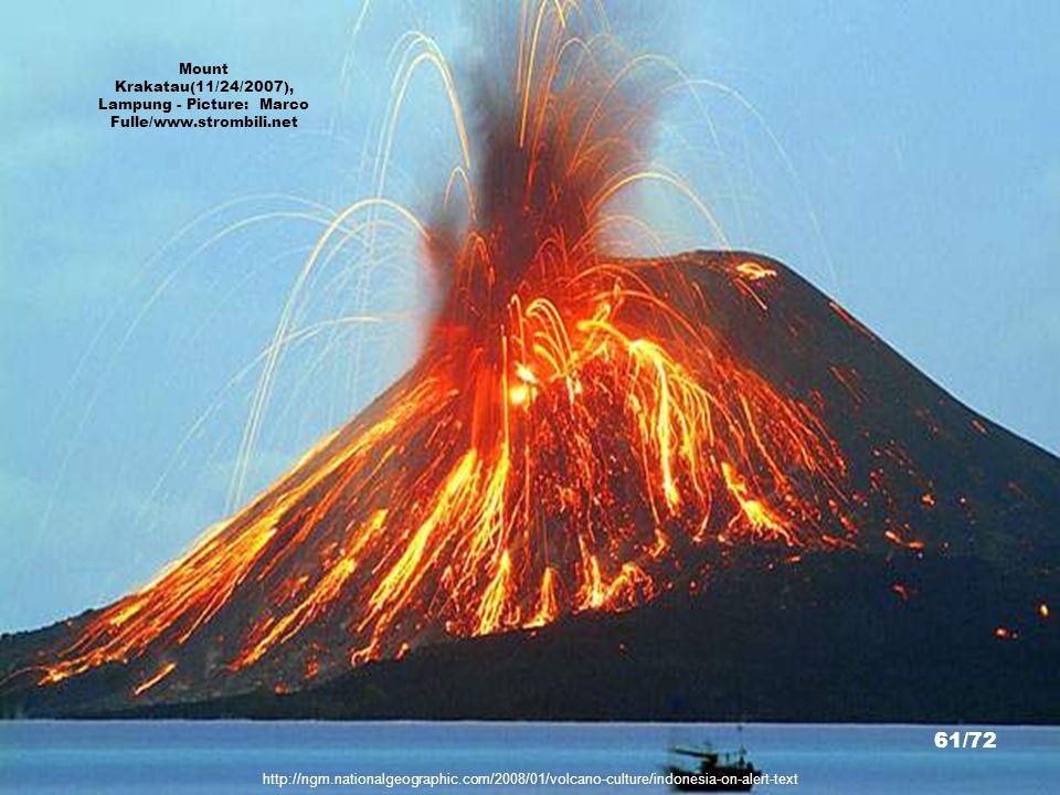 Mount Krakatau(11/24/2007), Lampung - Picture: Marco Fulle/www