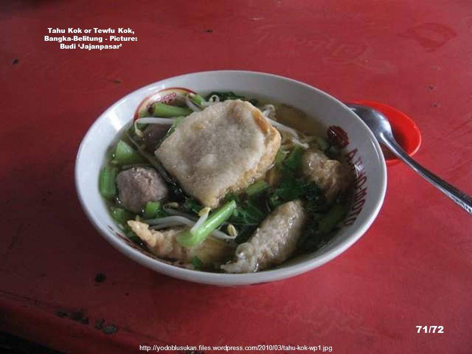 Tahu Kok or Tewfu Kok, Bangka-Belitung - Picture: Budi 'Jajanpasar'