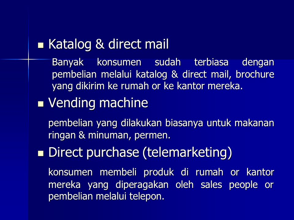 Direct purchase (telemarketing)