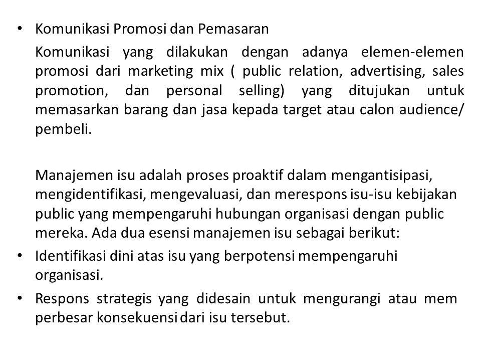 Komunikasi Promosi dan Pemasaran