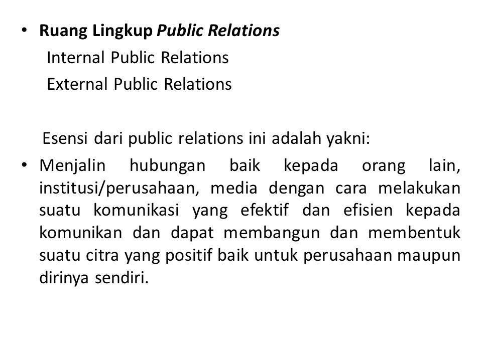 Ruang Lingkup Public Relations