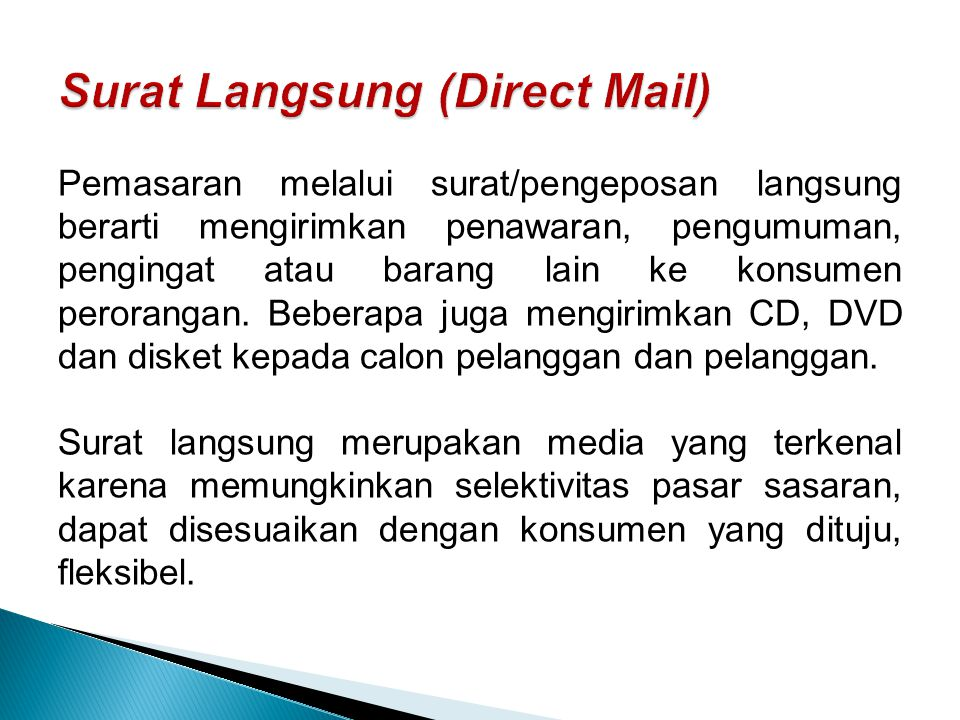 Surat Langsung (Direct Mail)