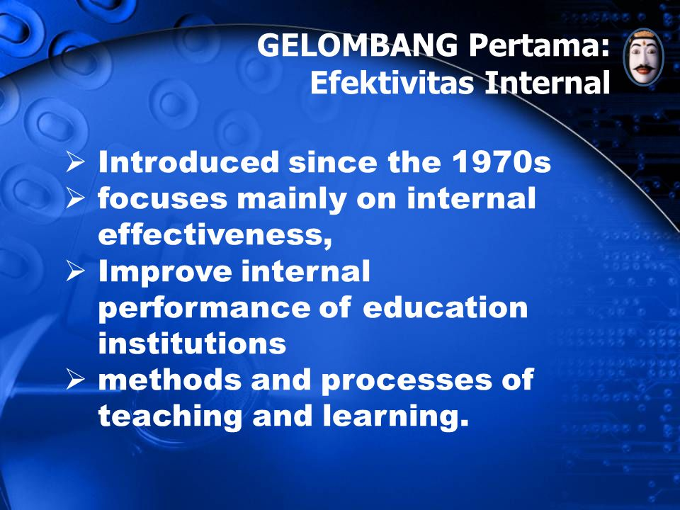 GELOMBANG Pertama: Efektivitas Internal Introduced since the 1970s