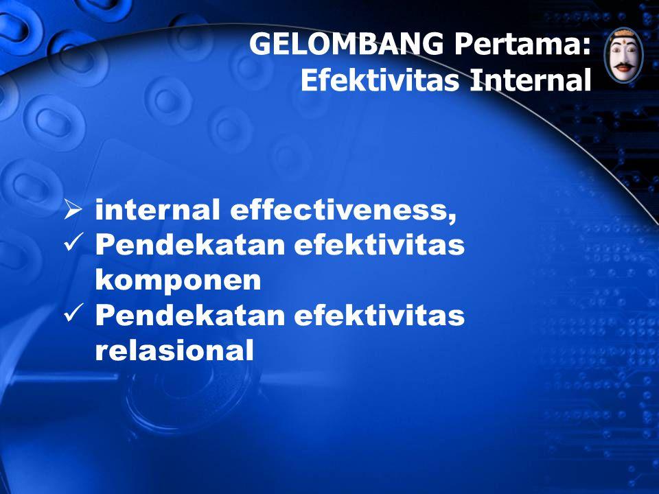 GELOMBANG Pertama: Efektivitas Internal internal effectiveness,