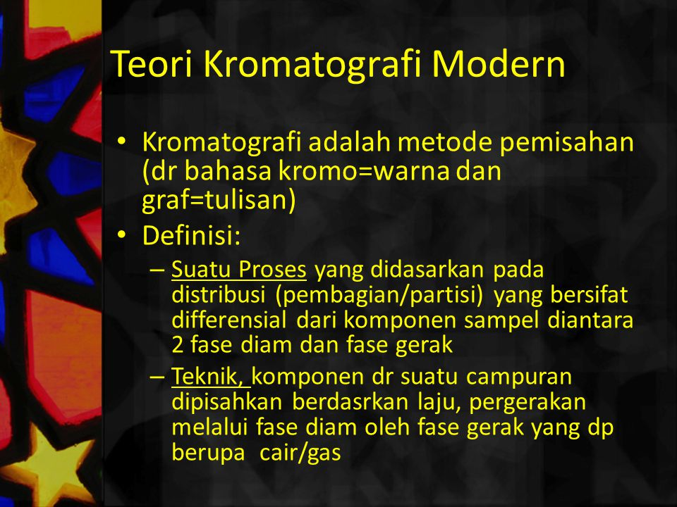 Teori Kromatografi Modern