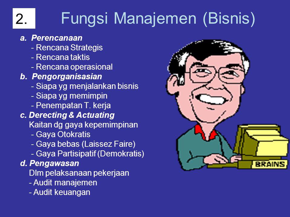 Fungsi Manajemen (Bisnis)