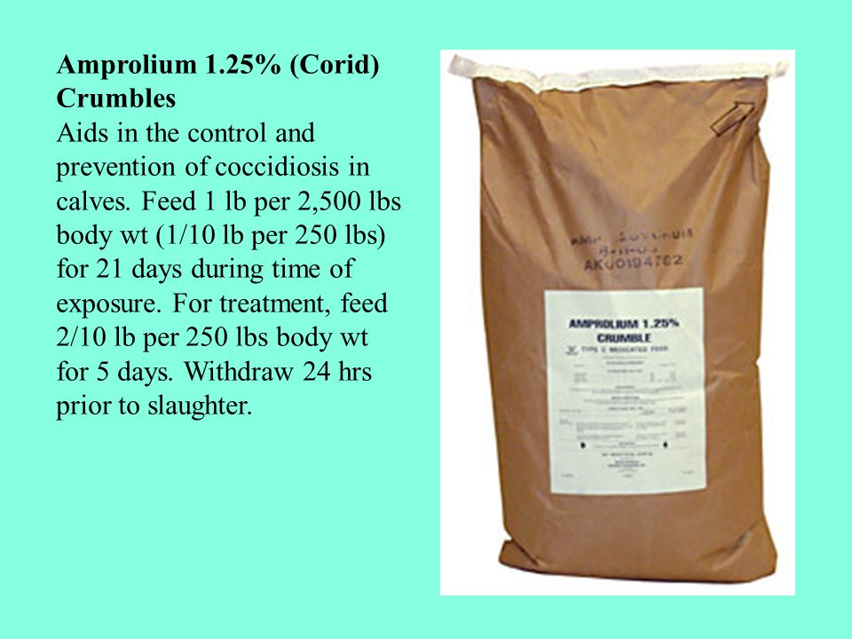 Amprolium 1.25% (Corid) Crumbles