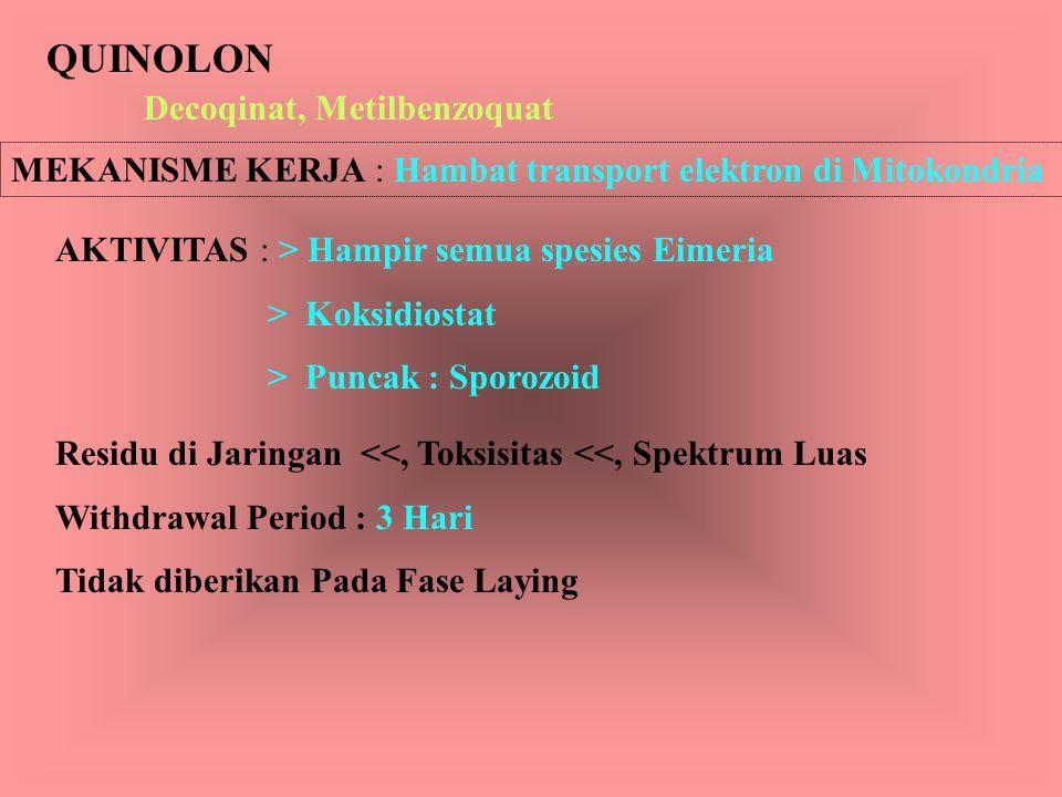 QUINOLON Decoqinat, Metilbenzoquat